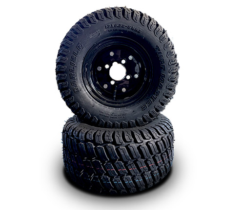 """6"""" wide turf tires"""